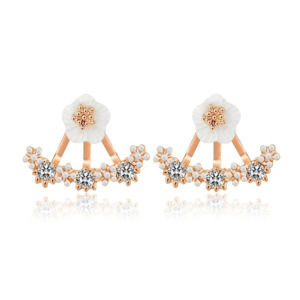 Small Flower Hanging Stud Earring