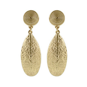 Golden Color Long Statement Drop Dangle Earrings For Women