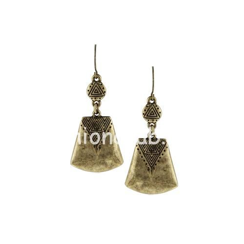 New Vintage Lock-Shaped Long Dangling Earrings for Women