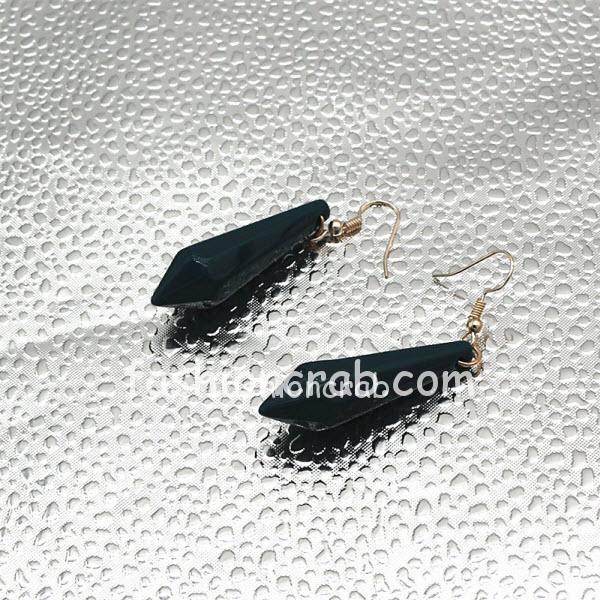 Black Geometric Bullet Dangling Long Statement Earrings For Women