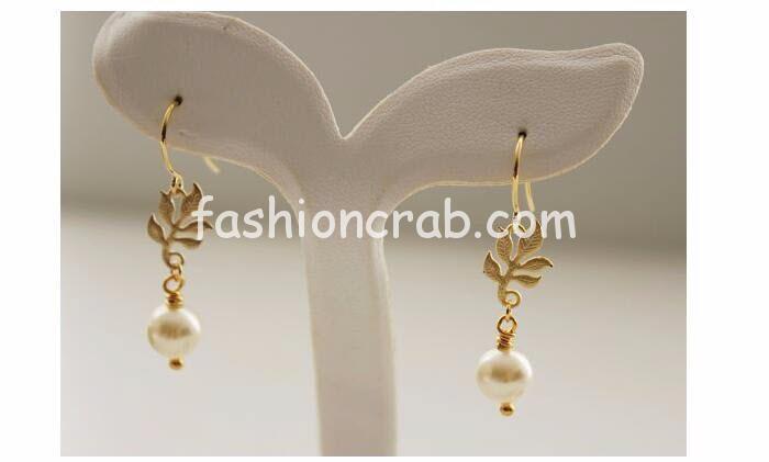 Pearl Leaves Tassel Earrings for Women