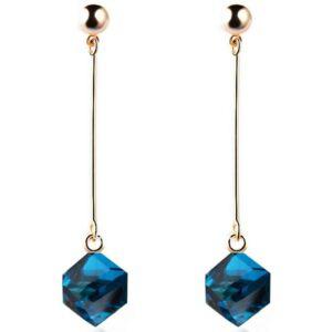 Blue Crystal Long Dangle Earring