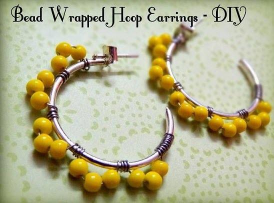 DIY- hoop earrings