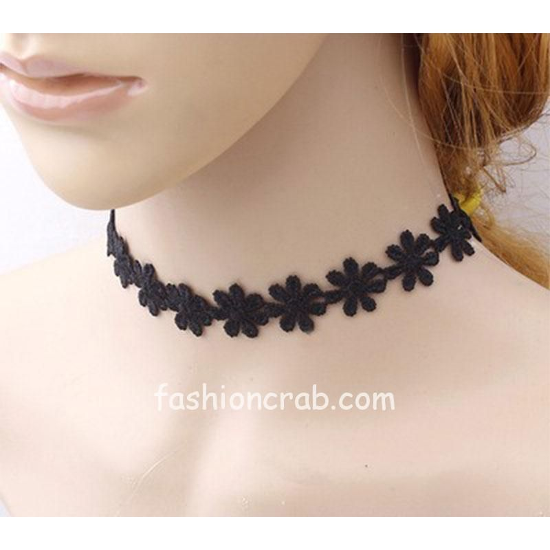 Black-Flower-Lace-Choker-Necklace-for-Girls