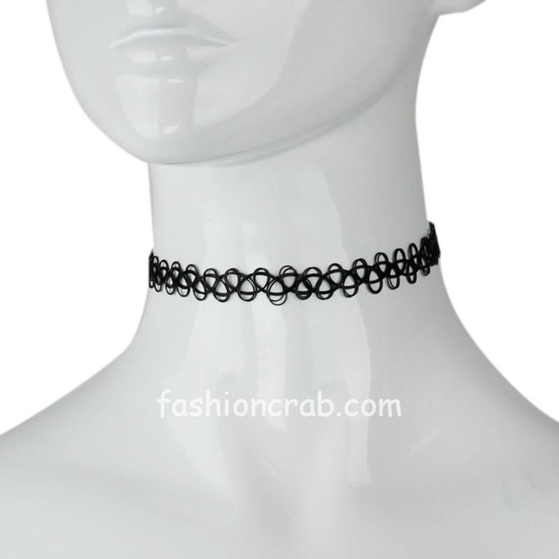 Black Retro Choker Necklace for Girls