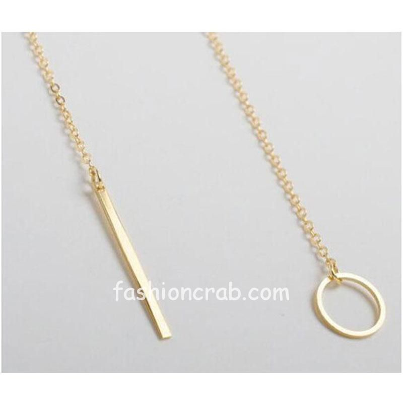 Golden Color Casual College Wear Chain Necklace
