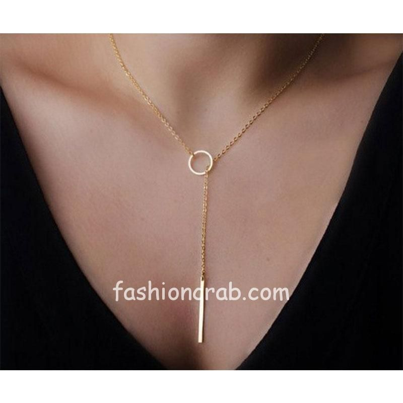 Golden-Color-Casual-College-Wear-Chain-Necklace
