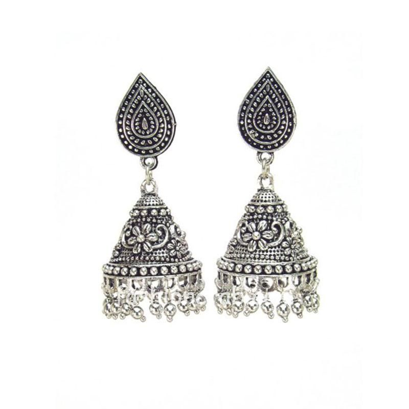 Oxidised Silver Plated Designer Jhumki for Girls