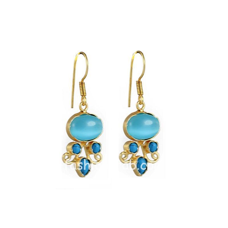 Designer Blue Color Drop Earring