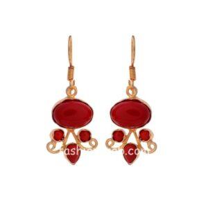 Designer Red Color Drop Earring for Girls