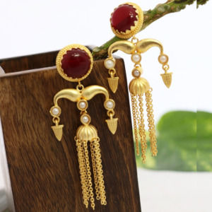 Red Color Designer Classic Dangler for Girls