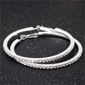 Silver Color Hoop Earring for Girls