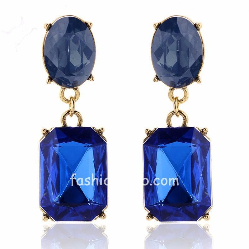 Royal Blue Color Girls Fashion Earrings