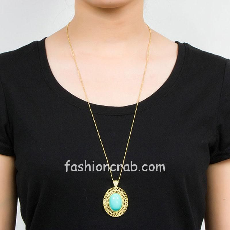 Light-Blue-Color-Oval-Stone-with-Golden-Chain