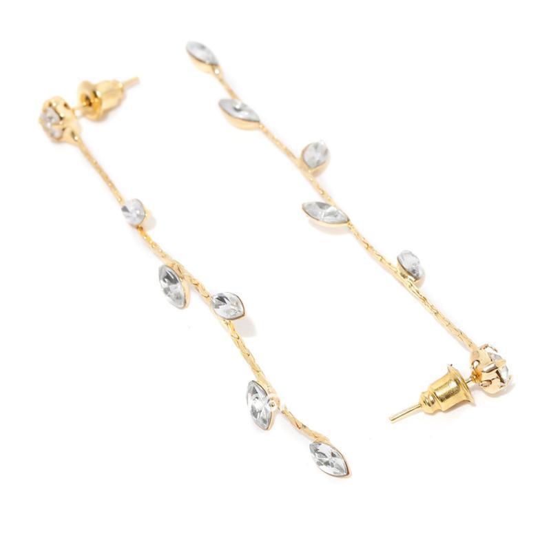 Golden Color Long Drop Girls Earring