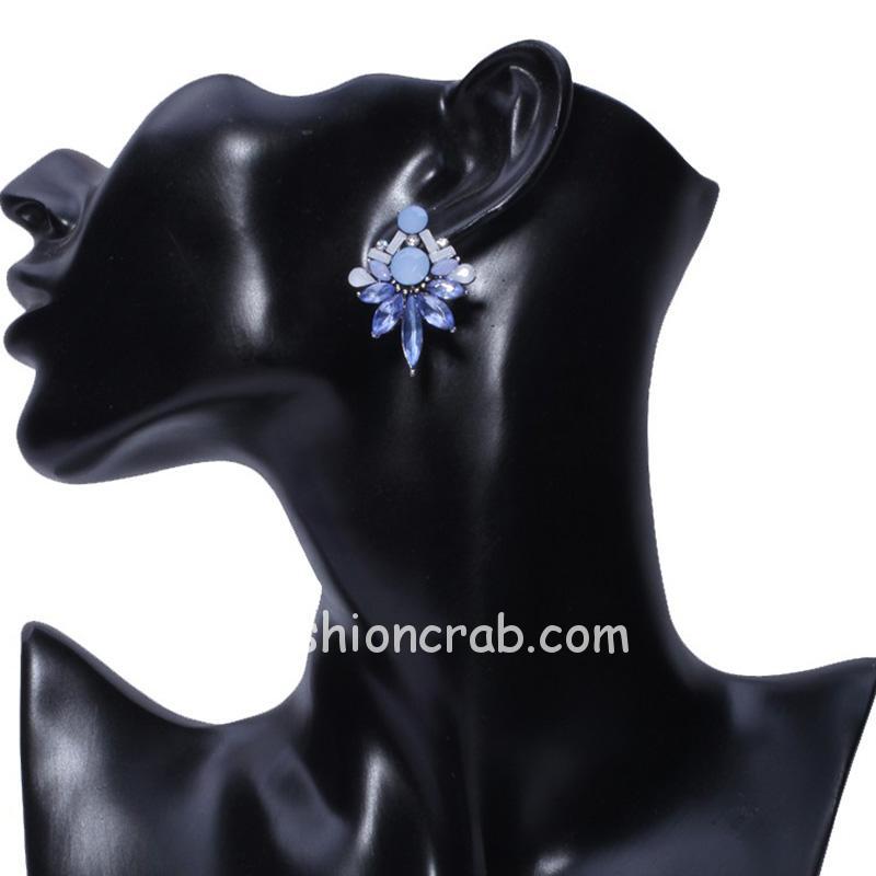 Blue Crystal Stud Girls Earring