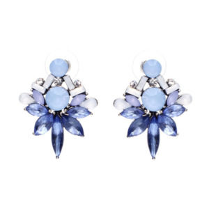 Blue Crystal Stud Girls Earring