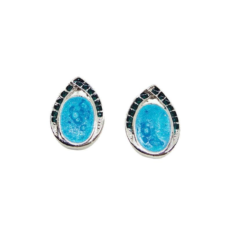 Blue Stud Women Earring