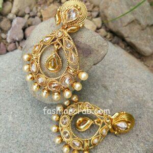 Golden Color Polki Earring