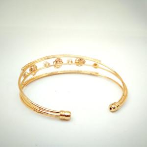 Golden Flower Pearl Bracelet