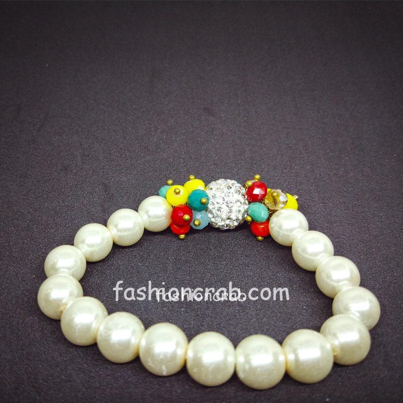 Multicolor Beads Pearl Bracelet