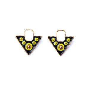 Multicolor-Black-White-Stud-Earring