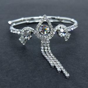 Silver Rhinestone Crystal Bracelet