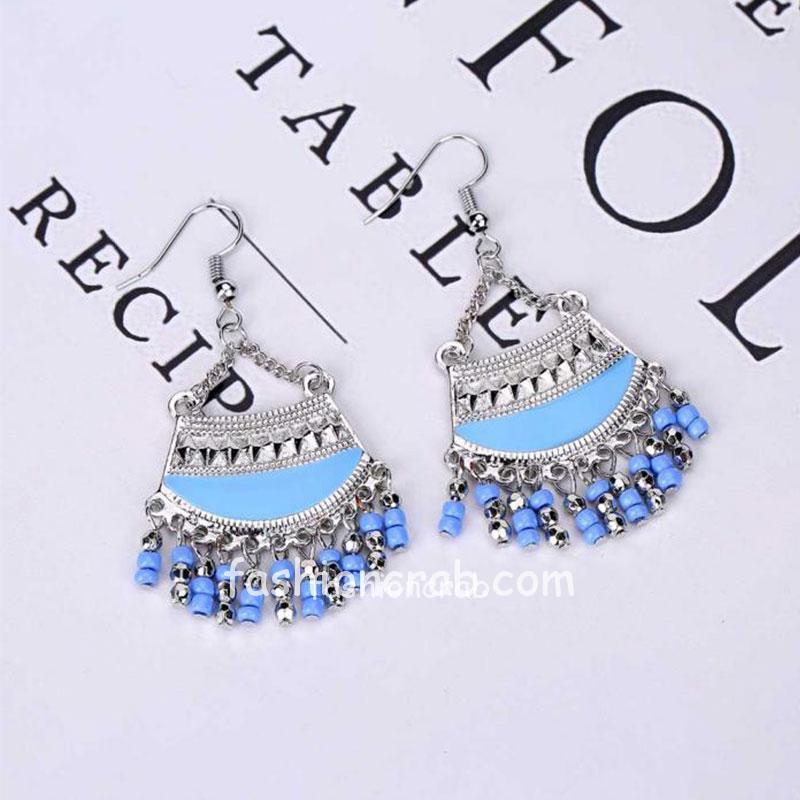 Blue Bohemian Dangle Earring