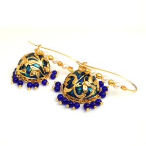 Royal Blue Meenakari Earring