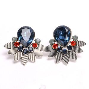 Blue Crystal Rhinestone Stud Earring
