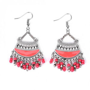 Red Bohemian Dangle Earring