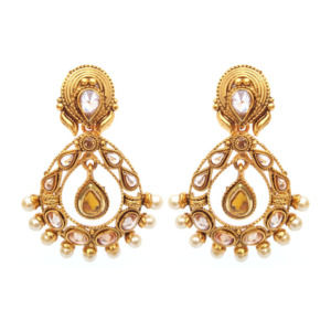 Golden Color Polki Earring