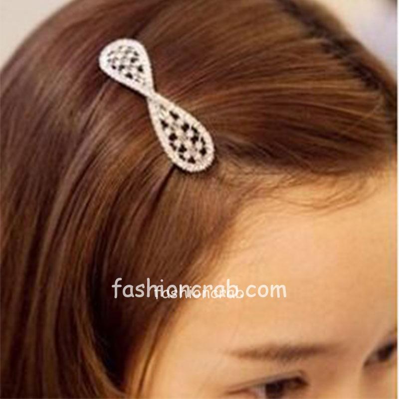 Rhinestone Crystal Bowknot Hair Clip