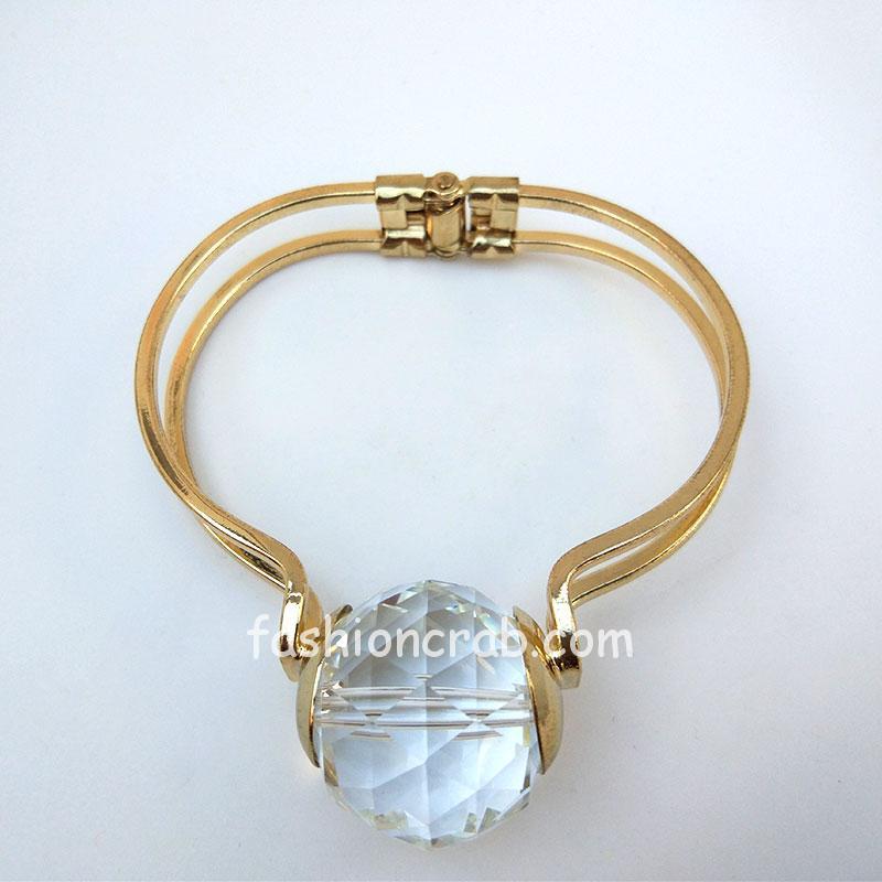 Crystal Golden Adjustable Bracelet for Women