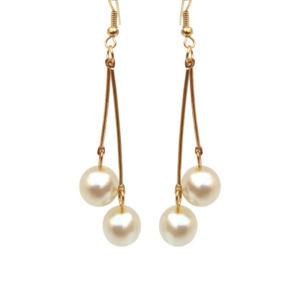 Dangling Pearl Drop Earring