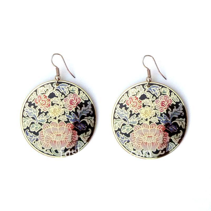 Floral Print Earring for Girls
