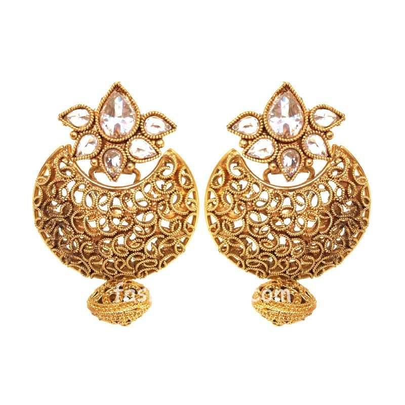 Golden Drop Polki Earring for Women
