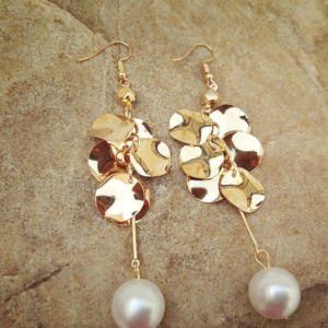 Pearl Golden Earring for Girls