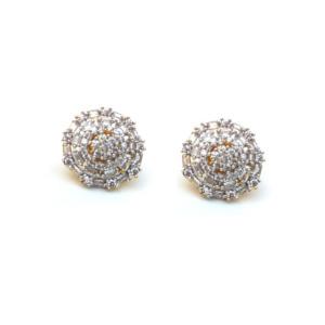 Spiral Shaped American Diamond Stud Earring