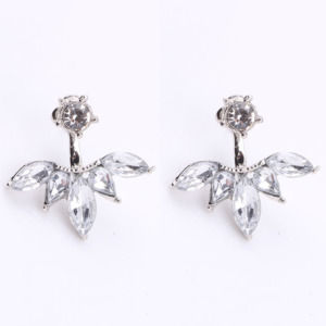 Crystal Silver Color Ear Stud