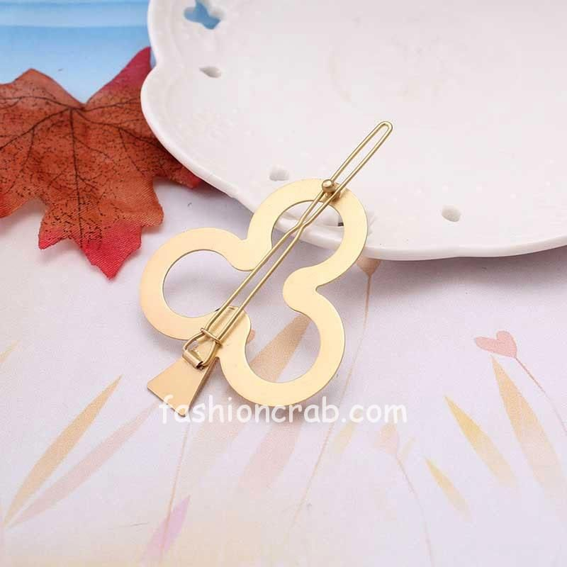Golden Leaf Shape Hair Pin