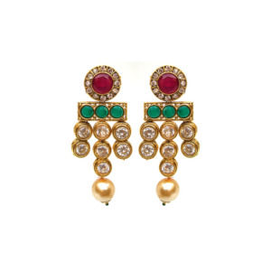 Kundan with Color Beads Necklace Set for Women