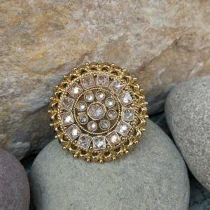 Adjustable Polki Ring for Women