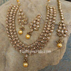 Antique Kundan Polki Necklace Set