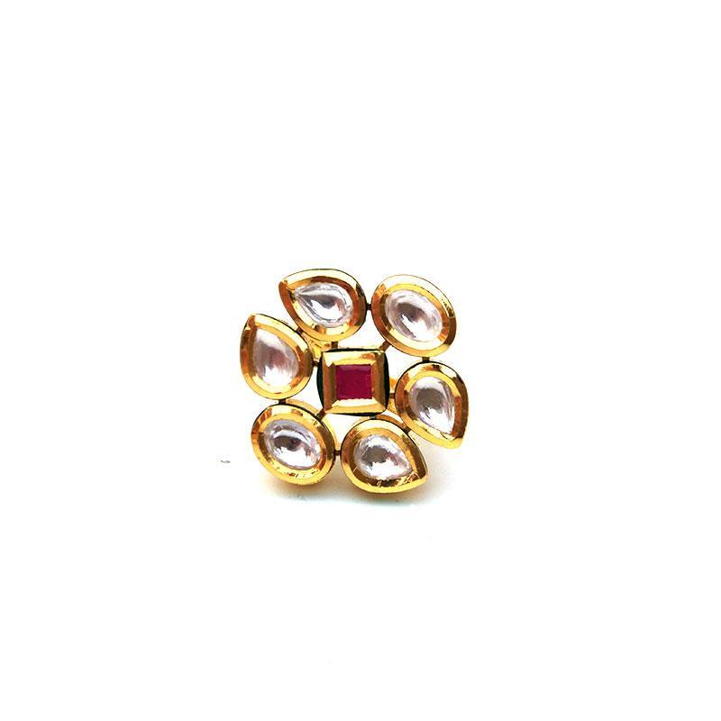 Designer Kundan Ring For Women