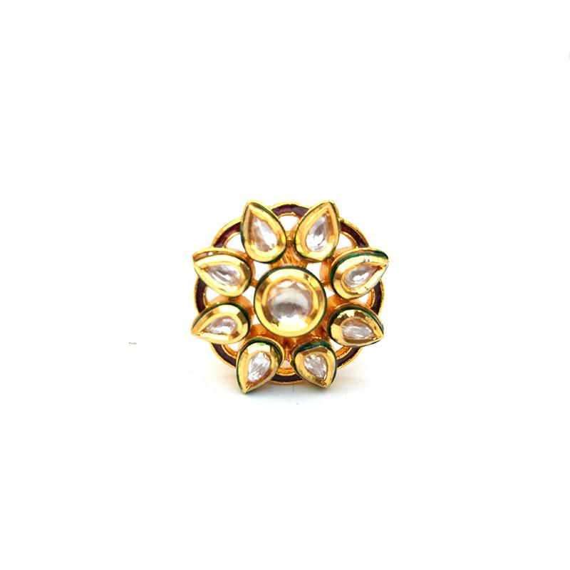 Ethnic Kundan Ring For Women