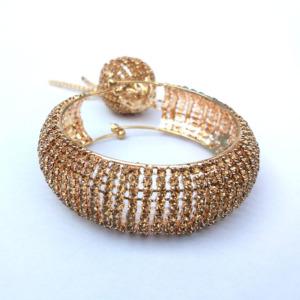 Golden Color Bracelet with Hanging Ball