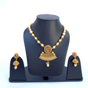 Pearl Golden Color Necklace Set