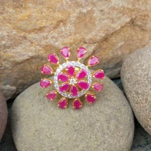 Pink Crystal Ring for Love