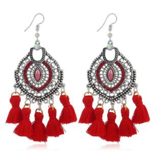 Red Tassel Earring for Women